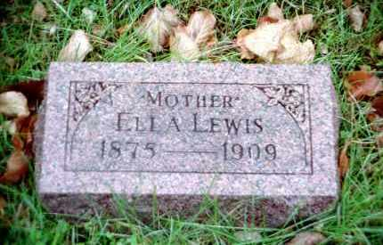 HILL LEWIS, ELLA - Douglas County, Nebraska | ELLA HILL LEWIS - Nebraska Gravestone Photos