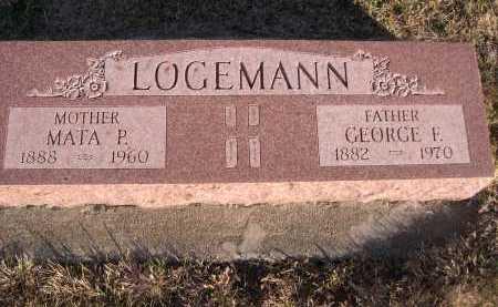 LOGEMANN, GEORGE F. - Douglas County, Nebraska | GEORGE F. LOGEMANN - Nebraska Gravestone Photos