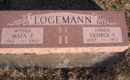 LOGEMANN, MATA P. - Douglas County, Nebraska | MATA P. LOGEMANN - Nebraska Gravestone Photos