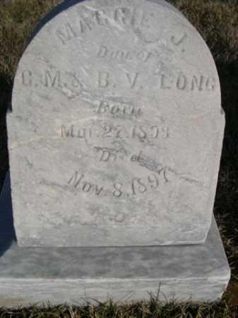 LONG, MAGGIE J. - Douglas County, Nebraska | MAGGIE J. LONG - Nebraska Gravestone Photos