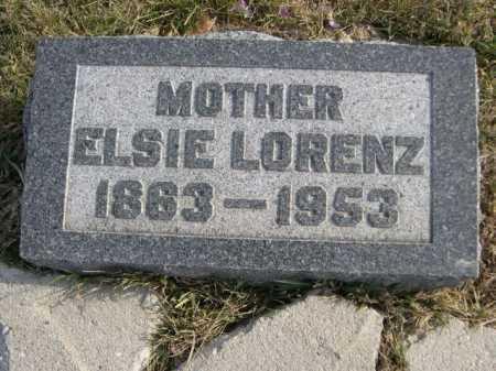 LORENZ, ELSIE - Douglas County, Nebraska   ELSIE LORENZ - Nebraska Gravestone Photos