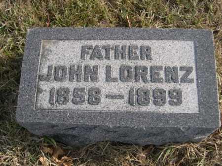 LORENZ, JOHN - Douglas County, Nebraska | JOHN LORENZ - Nebraska Gravestone Photos