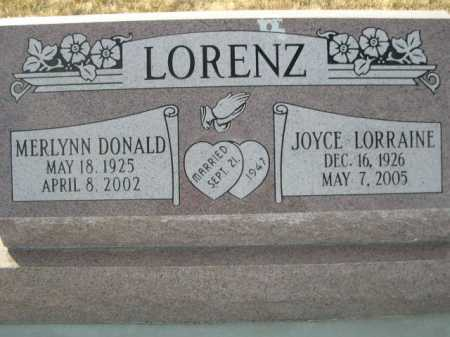 LORENZ, JOYCE LORRAINE - Douglas County, Nebraska   JOYCE LORRAINE LORENZ - Nebraska Gravestone Photos