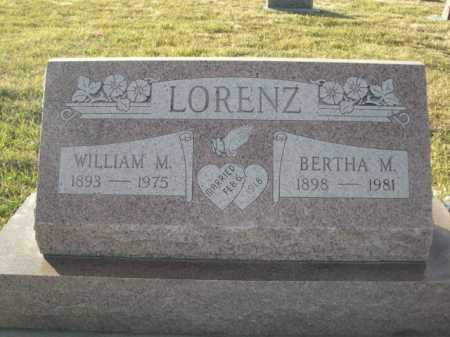 LORENZ, WILLIAM M. - Douglas County, Nebraska | WILLIAM M. LORENZ - Nebraska Gravestone Photos