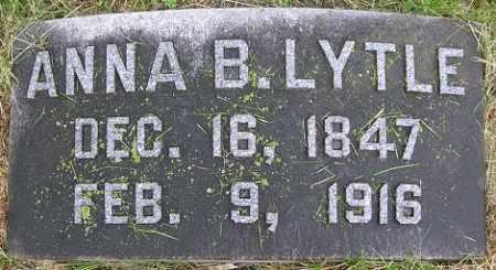 LYTLE, ANNA B. - Douglas County, Nebraska   ANNA B. LYTLE - Nebraska Gravestone Photos