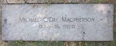 MAC PHERSON, MICHAEL O'DAY - Douglas County, Nebraska | MICHAEL O'DAY MAC PHERSON - Nebraska Gravestone Photos