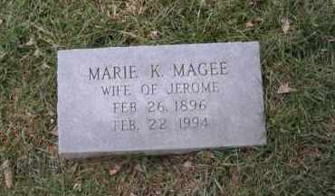 MAGEE, MARIE K. - Douglas County, Nebraska | MARIE K. MAGEE - Nebraska Gravestone Photos