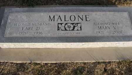 MALONE, EARL D. - Douglas County, Nebraska | EARL D. MALONE - Nebraska Gravestone Photos