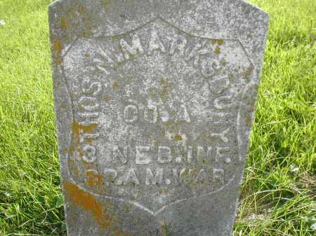 MARKSBURY, THOMAS N - Douglas County, Nebraska | THOMAS N MARKSBURY - Nebraska Gravestone Photos