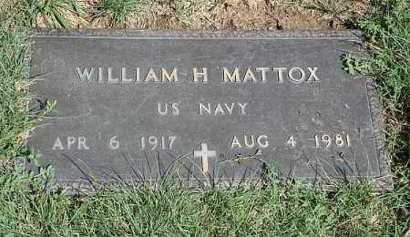 MATTOX, WILLIAM H. - Douglas County, Nebraska | WILLIAM H. MATTOX - Nebraska Gravestone Photos