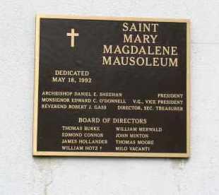 *MAUSEOLEUM, PLAQUE - Douglas County, Nebraska | PLAQUE *MAUSEOLEUM - Nebraska Gravestone Photos