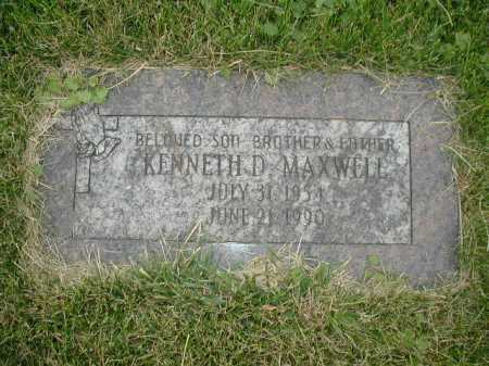 MAXWELL, KENNETH D - Douglas County, Nebraska | KENNETH D MAXWELL - Nebraska Gravestone Photos