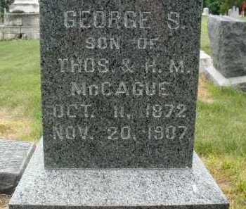 MC CAGUE, GEORGE STEWART - Douglas County, Nebraska | GEORGE STEWART MC CAGUE - Nebraska Gravestone Photos