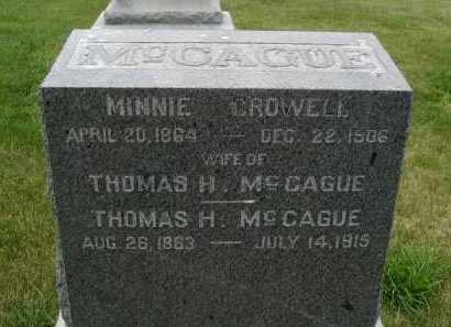 MC CAGUE, THOMAS H - Douglas County, Nebraska | THOMAS H MC CAGUE - Nebraska Gravestone Photos