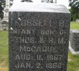 MC CAGUE, RUSSELL B - Douglas County, Nebraska   RUSSELL B MC CAGUE - Nebraska Gravestone Photos