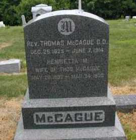 MC CAGUE, HENRIETTA M - Douglas County, Nebraska | HENRIETTA M MC CAGUE - Nebraska Gravestone Photos