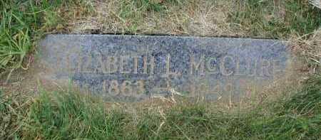 MC CLURE, ELIZABETH L - Douglas County, Nebraska | ELIZABETH L MC CLURE - Nebraska Gravestone Photos