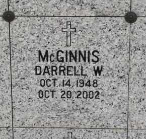 MC GINNIS, DARRELL W. - Douglas County, Nebraska | DARRELL W. MC GINNIS - Nebraska Gravestone Photos
