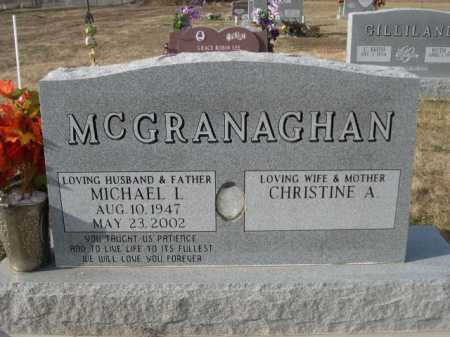 MC GRANAGHAN, CHRISTINE A. - Douglas County, Nebraska   CHRISTINE A. MC GRANAGHAN - Nebraska Gravestone Photos