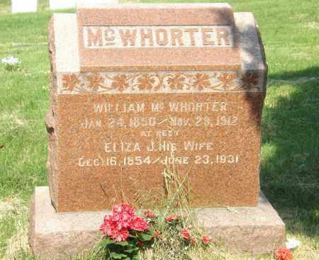 MC WHORTER, ELIZA J. - Douglas County, Nebraska | ELIZA J. MC WHORTER - Nebraska Gravestone Photos