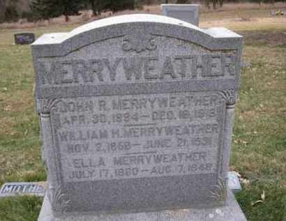 MERRYWEATHER, WILLIAM H. - Douglas County, Nebraska | WILLIAM H. MERRYWEATHER - Nebraska Gravestone Photos