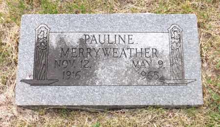 MERRYWEATHER, PAULINE - Douglas County, Nebraska | PAULINE MERRYWEATHER - Nebraska Gravestone Photos