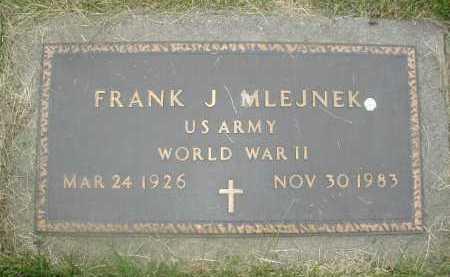 MLEJNEK, FRANK J. - Douglas County, Nebraska | FRANK J. MLEJNEK - Nebraska Gravestone Photos