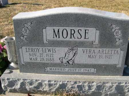 MORSE, LEROY LEWIS - Douglas County, Nebraska | LEROY LEWIS MORSE - Nebraska Gravestone Photos