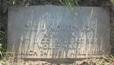 MORTENSON, OLE J - Douglas County, Nebraska | OLE J MORTENSON - Nebraska Gravestone Photos