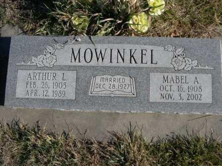 MOWINKEL, ARTHUR L. - Douglas County, Nebraska | ARTHUR L. MOWINKEL - Nebraska Gravestone Photos
