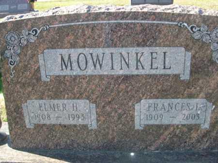 MOWINKEL, FRANCES L. - Douglas County, Nebraska | FRANCES L. MOWINKEL - Nebraska Gravestone Photos
