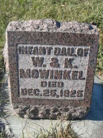 MOWINKEL, INFANT DAU. OF W. & K. - Douglas County, Nebraska | INFANT DAU. OF W. & K. MOWINKEL - Nebraska Gravestone Photos