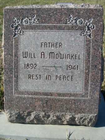 MOWINKEL, WILL A. - Douglas County, Nebraska | WILL A. MOWINKEL - Nebraska Gravestone Photos