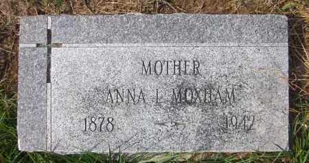 MOXHAM, ANNA L. - Douglas County, Nebraska | ANNA L. MOXHAM - Nebraska Gravestone Photos