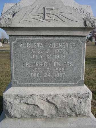MUENSTER, AUGUSTA - Douglas County, Nebraska   AUGUSTA MUENSTER - Nebraska Gravestone Photos