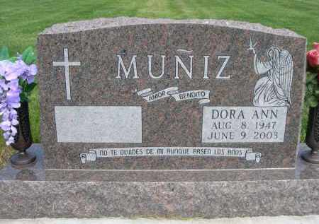 MUNIZ, DORA ANN - Douglas County, Nebraska   DORA ANN MUNIZ - Nebraska Gravestone Photos