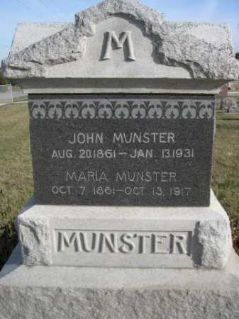 MUNSTER, JOHN - Douglas County, Nebraska | JOHN MUNSTER - Nebraska Gravestone Photos