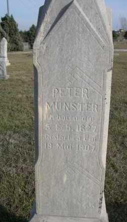MUNSTER, PETER - Douglas County, Nebraska | PETER MUNSTER - Nebraska Gravestone Photos