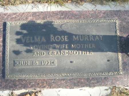 MURRAY, VELMA ROSE - Douglas County, Nebraska   VELMA ROSE MURRAY - Nebraska Gravestone Photos