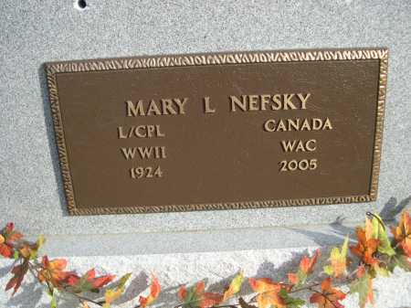 NEFSKY, MARY L. - Douglas County, Nebraska   MARY L. NEFSKY - Nebraska Gravestone Photos