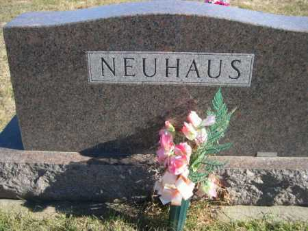 NEUHAUS, FAMILY - Douglas County, Nebraska | FAMILY NEUHAUS - Nebraska Gravestone Photos