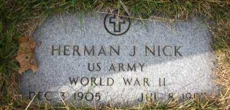 NICK, HERMAN J. - Douglas County, Nebraska | HERMAN J. NICK - Nebraska Gravestone Photos