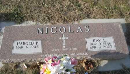 NICOLAS, HAROLD P. - Douglas County, Nebraska   HAROLD P. NICOLAS - Nebraska Gravestone Photos