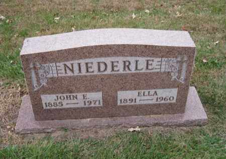 NIEDERLE, JOHN E. - Douglas County, Nebraska | JOHN E. NIEDERLE - Nebraska Gravestone Photos