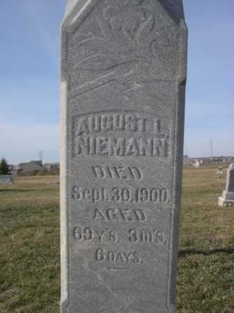 NIEMANN, AUGUST L. - Douglas County, Nebraska | AUGUST L. NIEMANN - Nebraska Gravestone Photos