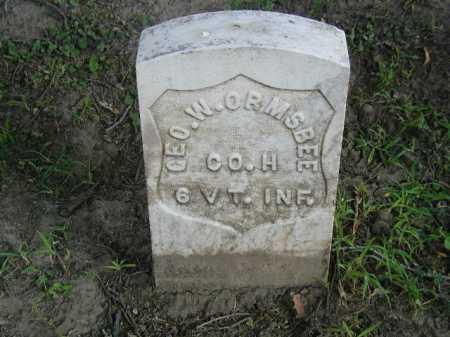 ORMSBEE, GEO. W. - Douglas County, Nebraska   GEO. W. ORMSBEE - Nebraska Gravestone Photos