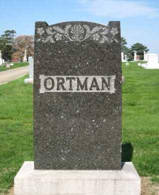 ORTMAN, FAMILY - Douglas County, Nebraska | FAMILY ORTMAN - Nebraska Gravestone Photos