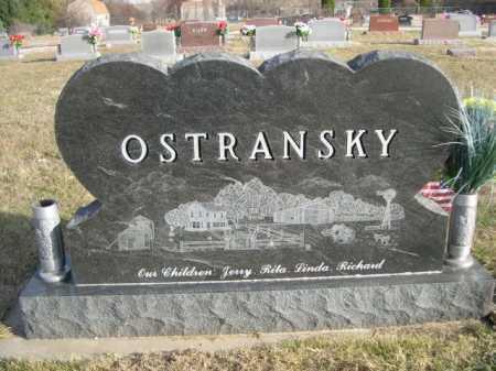 OSTRANSKY, FAMILY - Douglas County, Nebraska   FAMILY OSTRANSKY - Nebraska Gravestone Photos