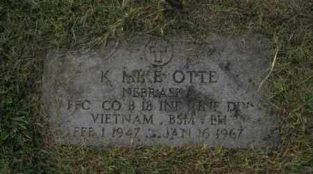 OTTE, K. MIKE - Douglas County, Nebraska | K. MIKE OTTE - Nebraska Gravestone Photos