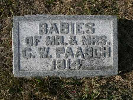 PAASCH, BABIES OF MR. & MRS. G.W. - Douglas County, Nebraska | BABIES OF MR. & MRS. G.W. PAASCH - Nebraska Gravestone Photos